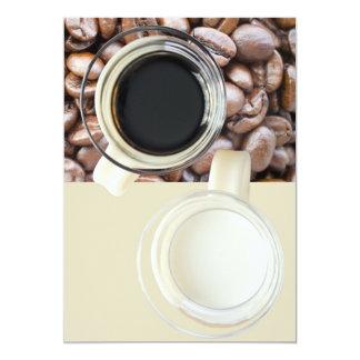 Coffee and cream 5x7 paper invitation card
