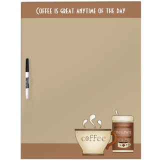 Coffee and Creamer Dry Erase Board
