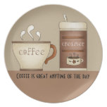 Coffee and Creamer Plate