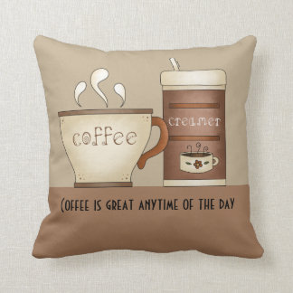 Coffee and Creamer Throw Pillow