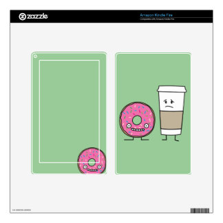 Coffee and Donut Decal For Kindle Fire