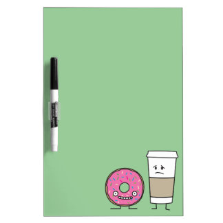 Coffee and Donut Dry-Erase Boards