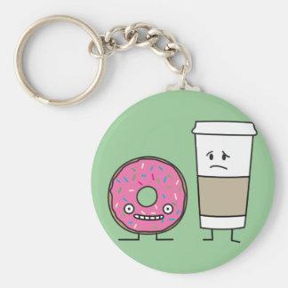 Coffee and Donut Keychain