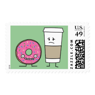 Coffee and Donut Postage