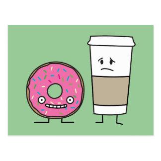 Coffee and Donut Postcard