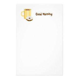 Coffee and Donut Stationery