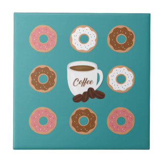 Coffee and Donuts Ceramic Tile