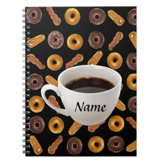 Coffee and Donuts Customizable Notebook