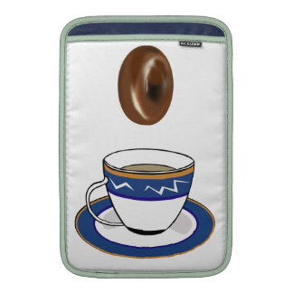 Coffee and Donuts: Funny Computer Case MacBook Air Sleeve