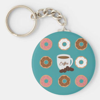 Coffee and Donuts Keychain