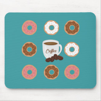 Coffee and Donuts Mouse Pad