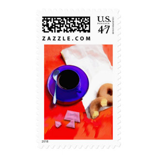 Coffee and Donuts Postage