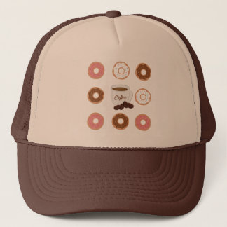 Coffee and Donuts Tote Bag Trucker Hat