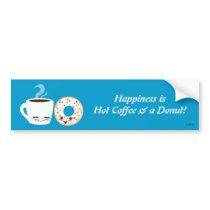 Coffee and Doughnut Pals Bumper Sticker