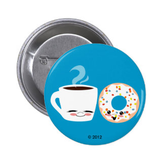 Coffee and Doughnut Pals Button