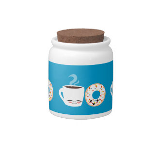Coffee and Doughnut Pals Candy Jar