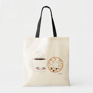 Coffee and Doughnut Pals Canvas Bag