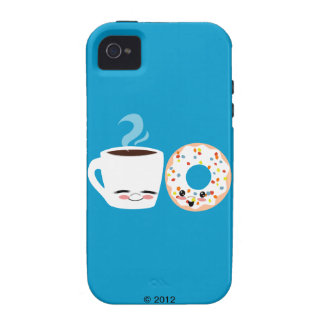 Coffee and Doughnut Pals iPhone 4 Cases
