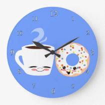 Coffee and Doughnut Pals Clock