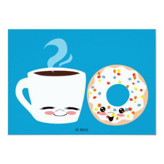 "Coffee and Doughnut Pals 5"" X 7"" Invitation Card"