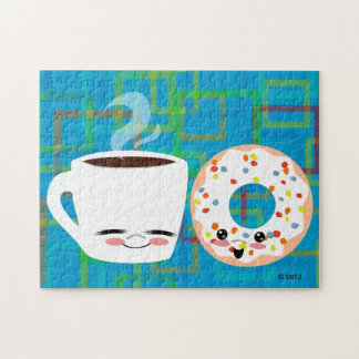 Coffee and Doughnut Pals Jigsaw Puzzle