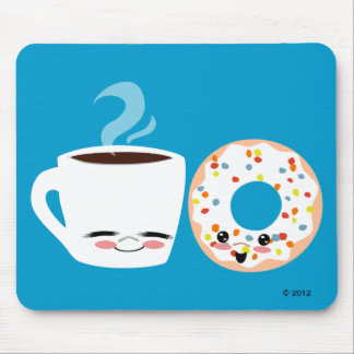 Coffee and Doughnut Pals Mouse Pad