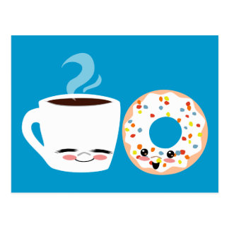 Coffee and Doughnut Pals Postcards