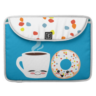 Coffee and Doughnut Pals Sleeve For MacBooks