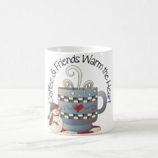 Coffee and Friends Warm the Heart Mug
