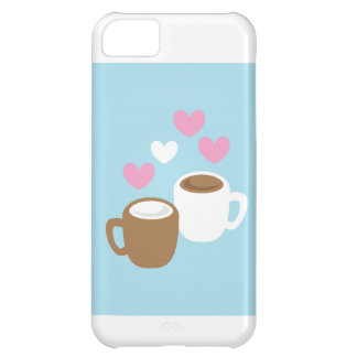 Coffee and hot chocolate cute love hearts iPhone 5C case