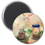 Coffee And Jelly Beans - Coffee Folk Art Fridge Magnet