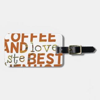 coffee and love funny cool humor joke bag tag