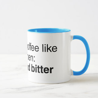 Coffee and Men: Strong and Bitter Mug