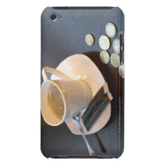 Coffee and money on a table Case-Mate iPod touch case
