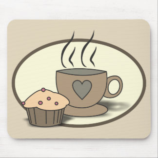 Coffee and Muffin Mousepad for Coffee Lovers