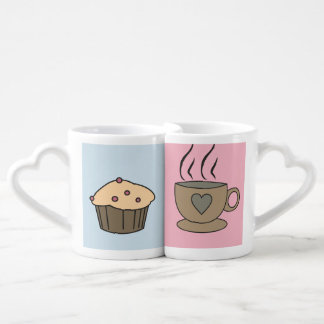 Coffee and Muffin Sweet Love Mugs for a Couple