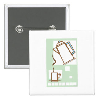 Coffee and Mug 2 Inch Square Button