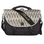Coffee and Sage iKat ZigZag Pattern Commuter Bags