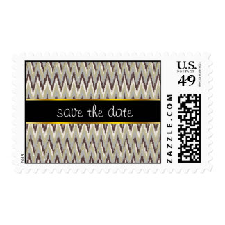 Coffee and Sage iKat ZigZag Pattern Stamps