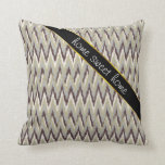 Coffee and Sage iKat ZigZag Pattern Throw Pillow