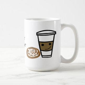 Coffee and Sweet with Cute Saying Classic White Coffee Mug