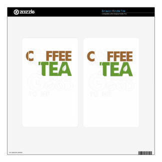 Coffee and tea skin for kindle fire