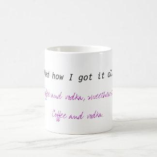 Coffee and vodka coffee mug