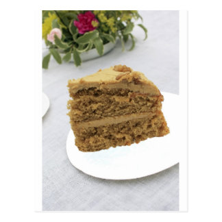 coffee and walnut cake postcard