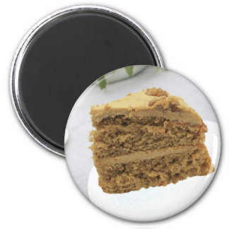 coffee and walnut cake refrigerator magnets