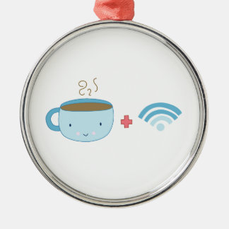 Coffee and Wifi Metal Ornament
