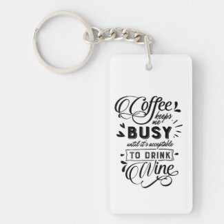 Coffee and Wine Keychain