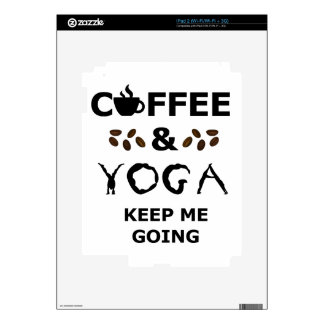 Coffee And Yoga Keep Going Decal For iPad 2