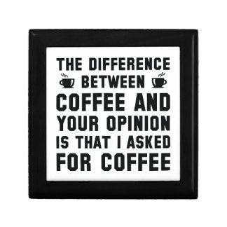 Coffee And Your Opinion Gift Box