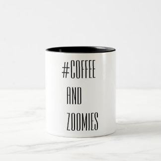 Coffee and Zoomies Two-Tone Coffee Mug